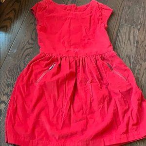 Girls Gap Kids Dress Red Holiday Corduroy 8